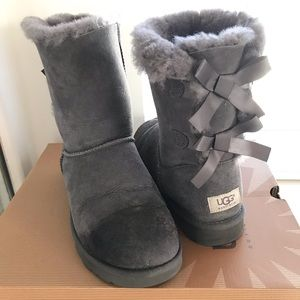 Grey Uggs with Bows